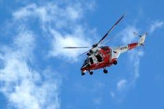 现代抢救直升机 免版税库存照片