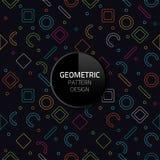 现代抽象几何样式模板传染媒介无缝的背景设计eps 10 免版税库存图片
