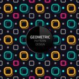 现代抽象几何样式模板传染媒介无缝的背景设计eps 10 免版税图库摄影