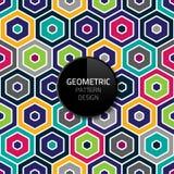 现代抽象几何样式模板传染媒介无缝的背景设计eps 10 图库摄影