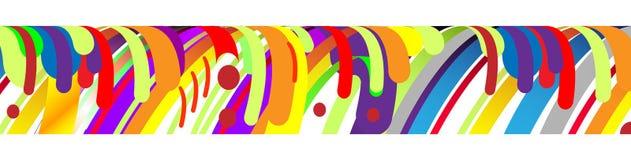现代抽象框架元素,构成由在颜色的各种各样的圆形做成 也corel凹道例证向量 图库摄影