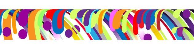 现代抽象框架元素,构成由在颜色的各种各样的圆形做成 也corel凹道例证向量 免版税库存图片