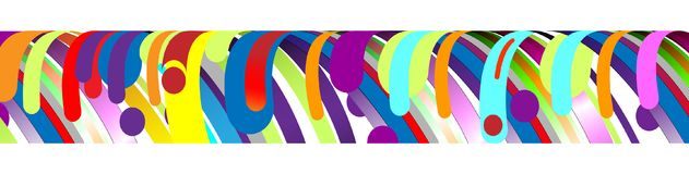 现代抽象框架元素,构成由在颜色的各种各样的圆形做成 也corel凹道例证向量 免版税图库摄影