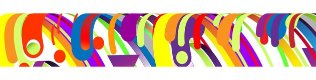 现代抽象框架元素,构成由在颜色的各种各样的圆形做成 也corel凹道例证向量 免版税库存照片