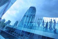 现代抽象背景的城市 免版税库存图片
