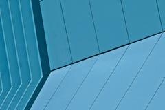 现代抽象蓝色的大厦 免版税库存图片