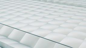 现代抽象金属栅格表面转动明亮的银色立方体波浪  向量例证