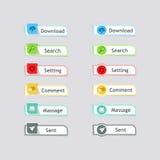 现代按钮网 免版税图库摄影