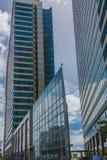 现代摩天大楼在西班牙港特立尼达组成新的建筑学 图库摄影