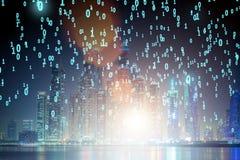 现代数字城市和创新的概念 免版税库存图片