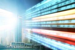 现代数字城市和创新的概念 库存照片