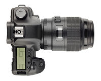 现代数字式SLR照相机 库存图片