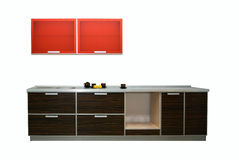 现代新的厨房 免版税库存照片