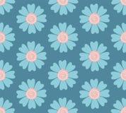 现代无缝的淡色蓝色花纹花样 皇族释放例证