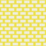 现代无缝的黄线砖块墙壁背景 库存例证