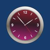 现代时钟表盘的例证 免版税库存照片