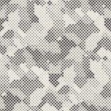 现代时髦的半音纹理 与任意圈子的不尽的抽象背景 传染媒介无缝的马赛克样式 免版税库存照片
