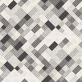 现代时髦的半音纹理 与任意大小正方形的不尽的抽象背景 传染媒介无缝的混乱正方形 库存例证