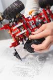 现代机电仪一体化机器人construstor创作 库存照片