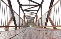 现代桥梁的铁 库存照片