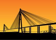 现代桥梁 库存照片