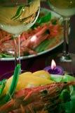 现代正餐的节假日 库存图片
