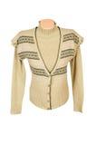 现代毛线衣背心温暖的黄色 免版税库存照片