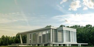 现代水泥房子 免版税图库摄影