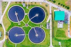 现代污水处理厂 库存照片