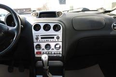 现代汽车内部和仪表板 库存图片