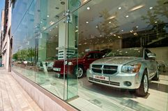 现代汽车待售在汉城韩国 库存照片