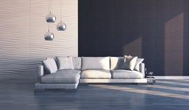 现代沙发 免版税库存图片