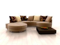 现代沙发 免版税图库摄影