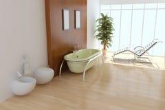 现代洗手间 免版税库存图片