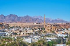 现代清真寺在Sharm El谢赫,西奈,埃及 免版税库存照片