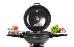 现代烤肉格栅用鲜美食物 库存照片