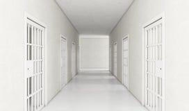 现代牢房的走廊 向量例证