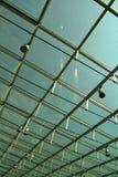 现代玻璃屋顶 库存照片