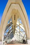现代玻璃桥梁 库存图片