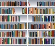 现代的书架 库存例证