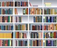 现代的书架 免版税库存图片