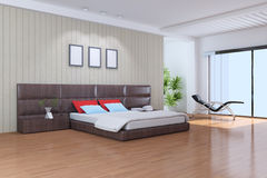 现代的卧室 库存图片