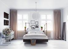 现代的卧室 图库摄影