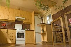 现代的厨房 免版税库存图片