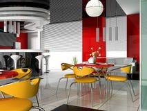 现代的咖啡馆 免版税库存照片