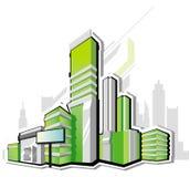 现代的城市 向量例证