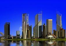 现代的城市 库存照片