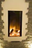 现代的壁炉 库存照片