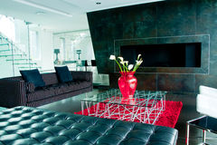 现代的客厅 免版税图库摄影