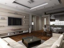 现代的客厅 库存照片